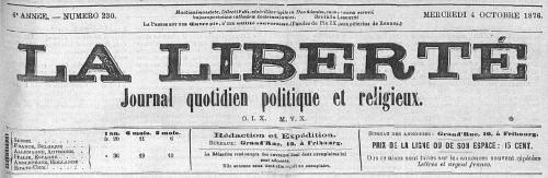 La Liberté (Fribourg) 4 octobre 1876.jpg